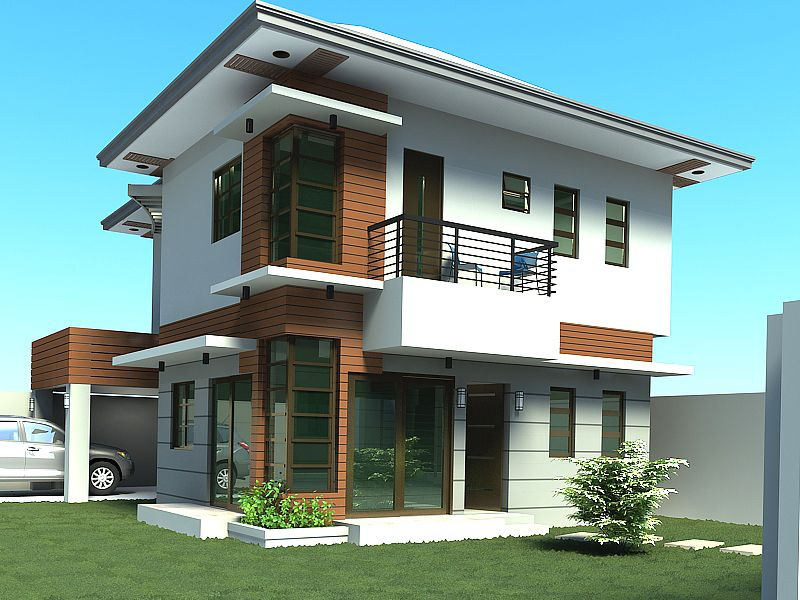 Small two story house plans house plans and design house for Simple modern two story house design
