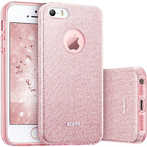 iphone 5s case iphone se case esr luxury glitter sparkle blingiphone 5s case iphone se case esr luxury glitter sparkle bling designer case [slim fit hard back cover] shining fashion style for apple iphone 5s se 5
