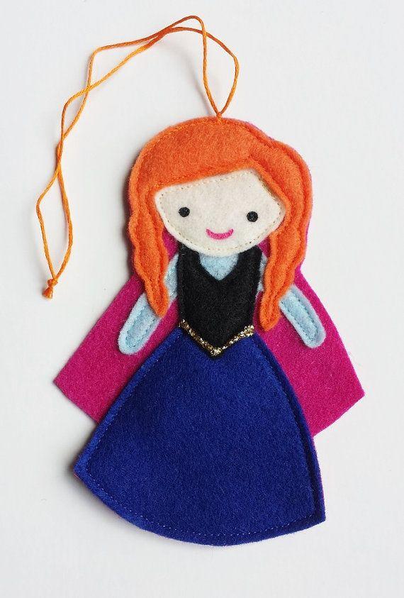Frozen Anna Disney Princess Felt Air Freshener / Christmas Ornament ...