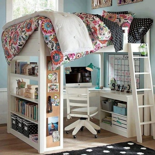 Loft Bed With Desk Underneath Little Tykes Pinterest