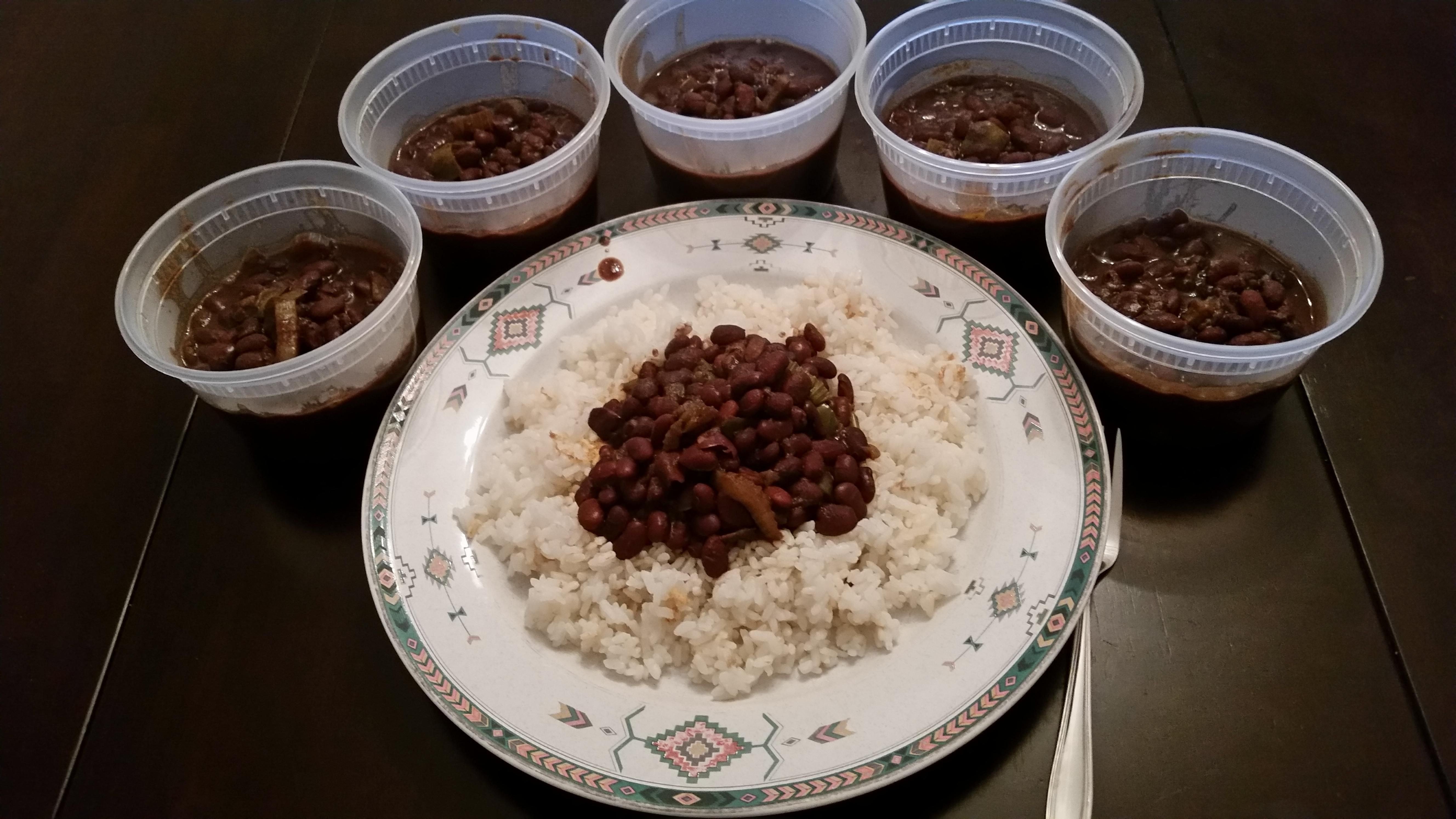 Creoleish black beans and rice 6 meals for 506