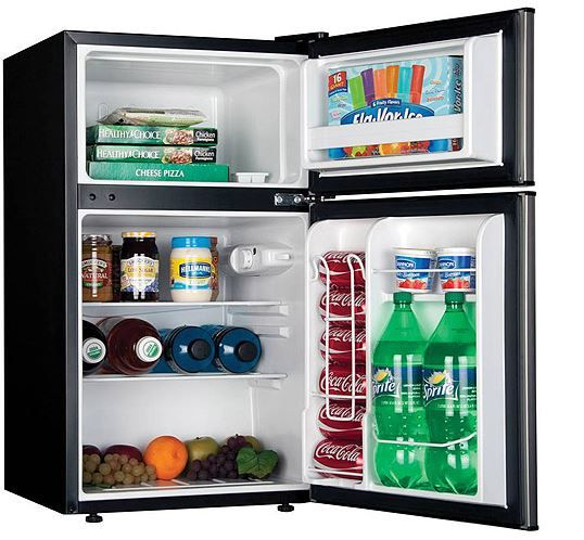 Haier 2 Door 3 3 Cu Ft Refrigerator Freezer Compact Mini Fridge Cooler Dorm This Haier Refrigerator Dorm Refrigerator Fridge Appliances Compact Refrigerator