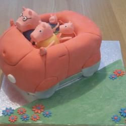 Peppa pig car cake liz saunders Pinterest Car cakes Birthday
