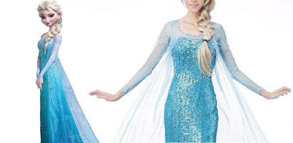 disney elsa klänning med kappa
