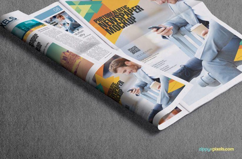 Beautiful Indoor Newspaper Advertising Mockups  Zippypixels