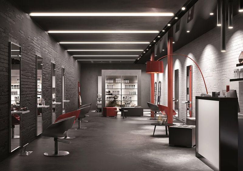 Salon proposals catalogue pietranera srl salon equipment hairdressing furniture made in for Salon interior design software