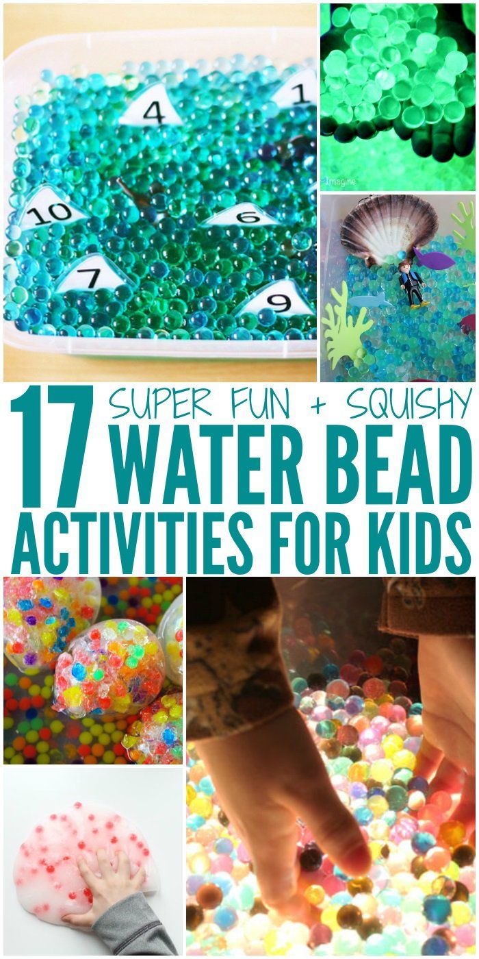 Fun Ideas With Water Beads Activities For Kids Water Beads Kids Sensory