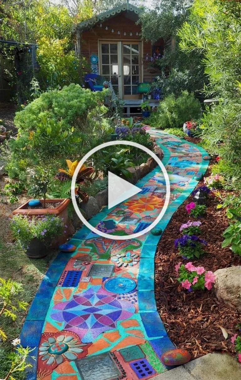 Photo of 79 magnificent diy mosaic garden path decorations for your inspiration 9 ~ INSPI…