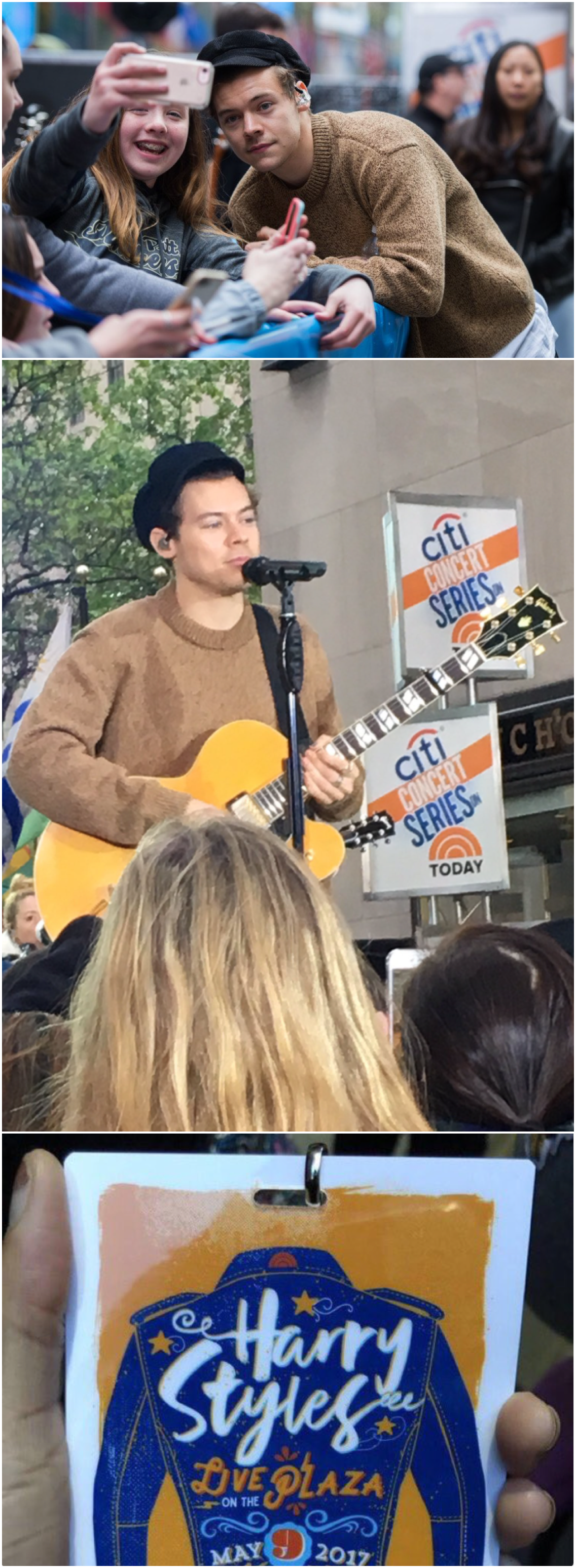 NEW   Harry at the Sound check for the Today Show Concert on May 9th. What a guy! He bought pizzas for fans who stayed overnight to watch the show. Follow rickysturn/harry-styles