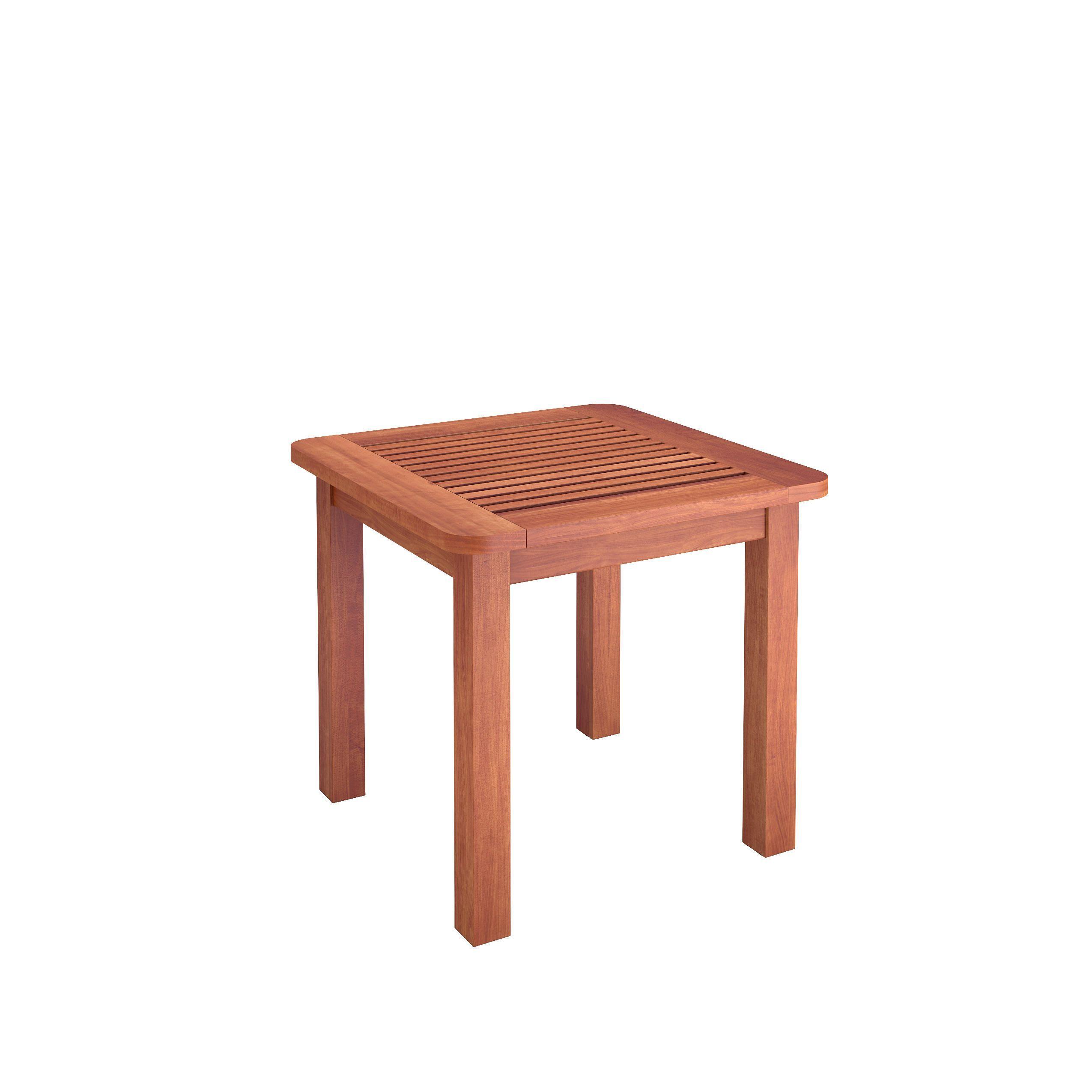 CorLiving Miramar Cinnamon Hard Outdoor Side Table