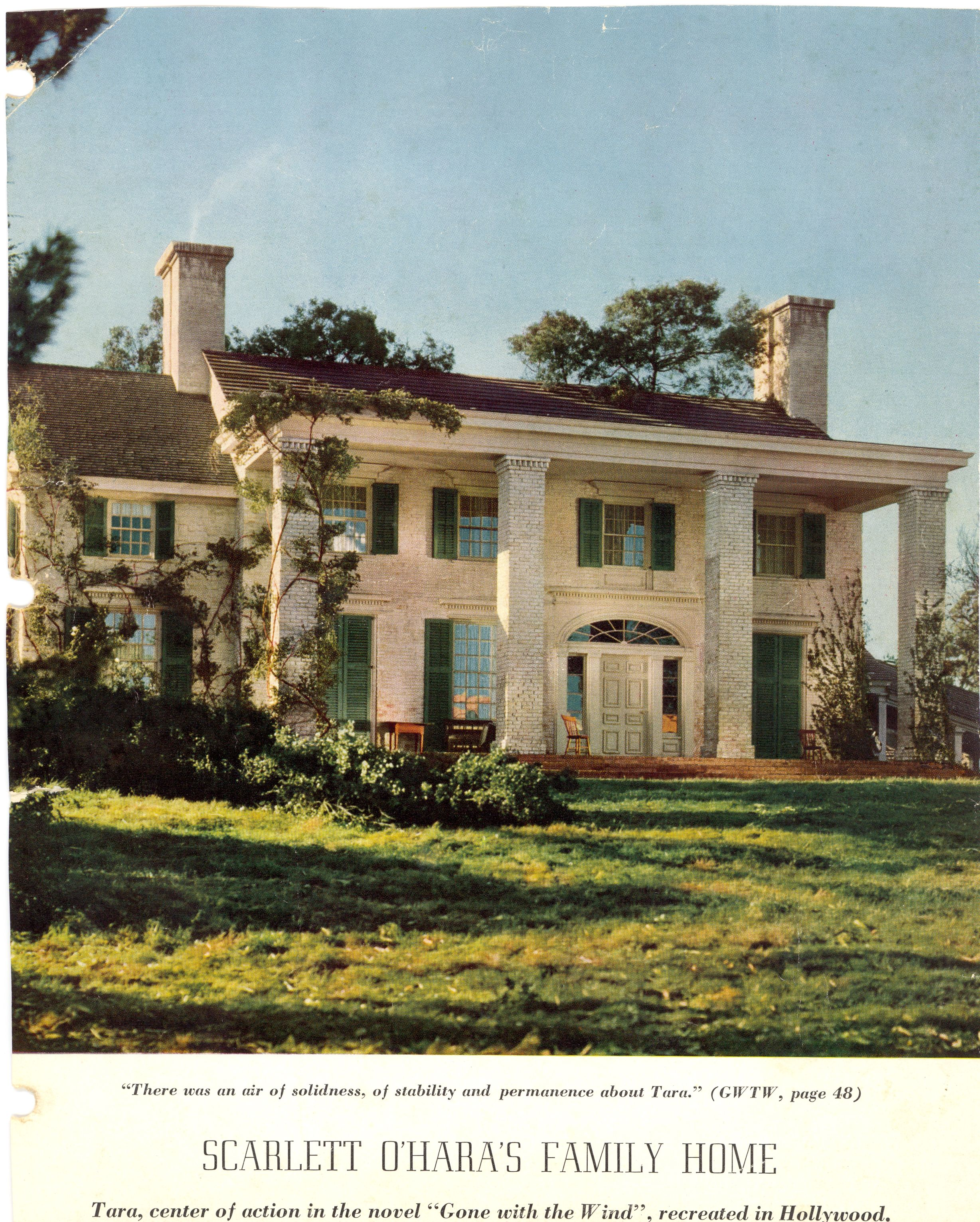 Tara Plantation from Gone with the Wind