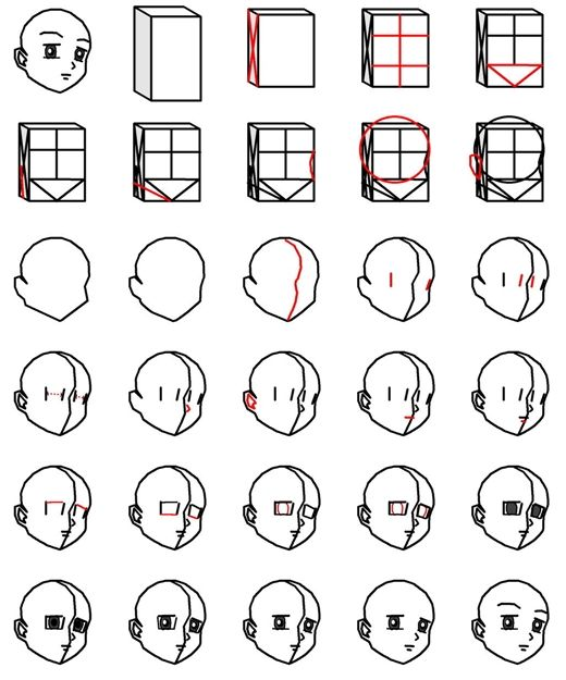 how to draw chibi anime step by step