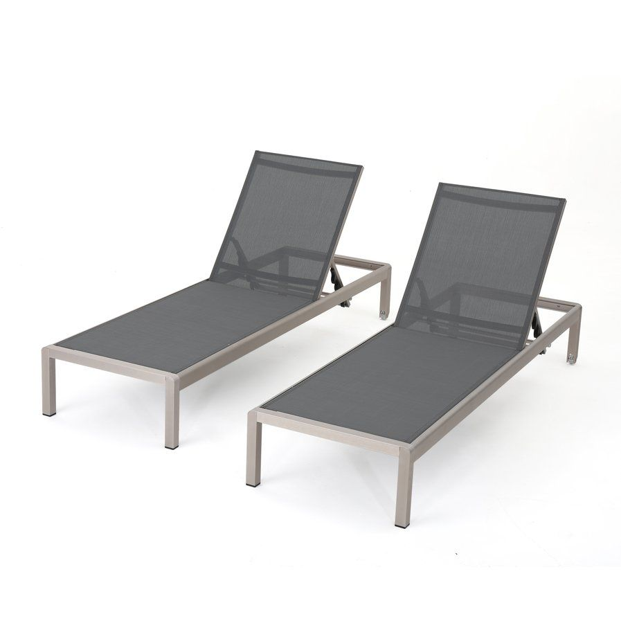 Super Lacon Modern Outdoor Mesh Chaise Lounge Set Of 2 Nubox Spiritservingveterans Wood Chair Design Ideas Spiritservingveteransorg