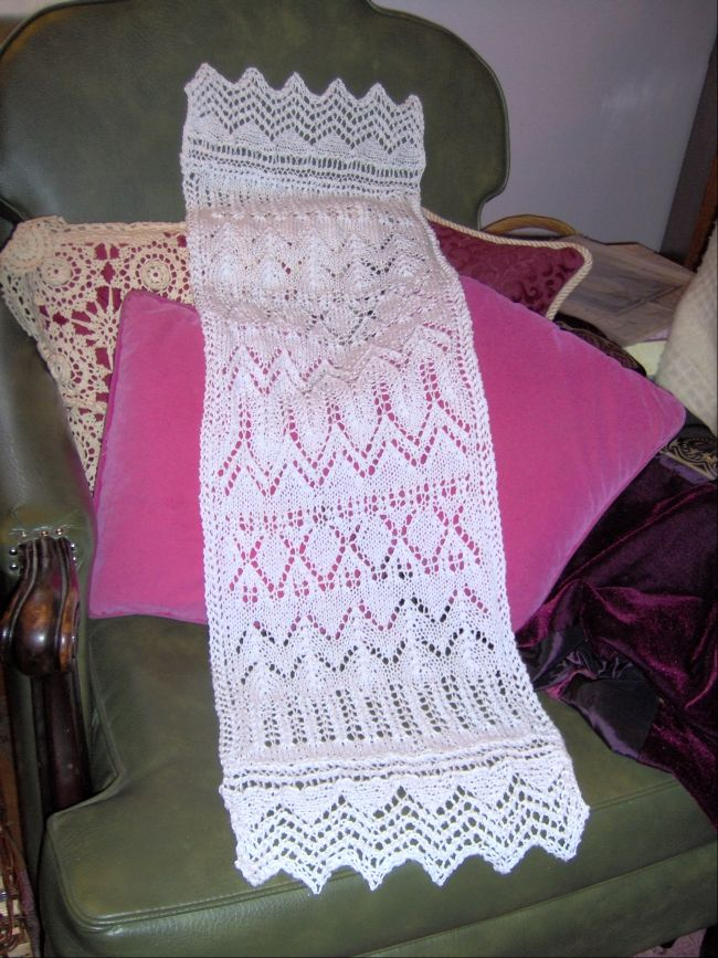 Knit Dresser Scarf I Made From A Pattern Book Leisure Arts
