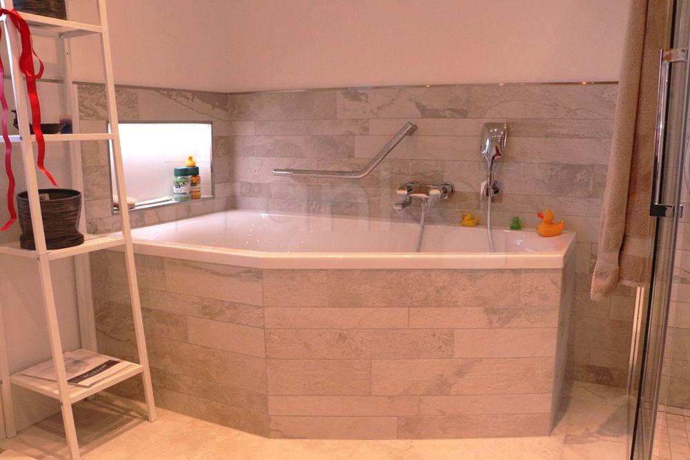 Regal Badezimmer ~ Natürlicher stonemix im badezimmer badezimmer stonemix fliesen