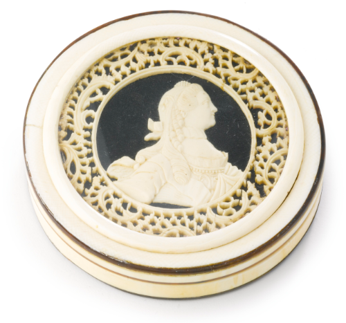A Russian Ivory Case, ca. 1780.