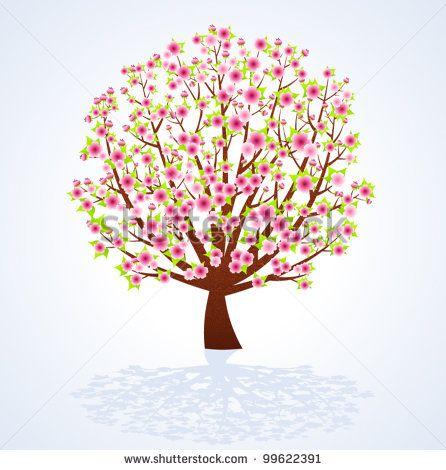 Blossom Tree Ilustrações e desenhos Stock | Shutterstock
