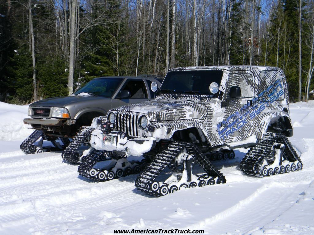 This Track System Is Perfect All Year Round But Especially Made For The Snow Dominator Track Systems Truck Wheels Trucks Track