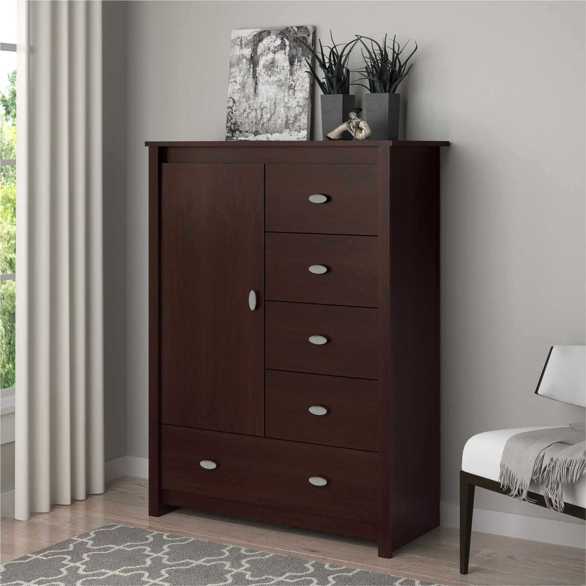Essential Home Anderson Chest Brown Bedroom Dressers Home Interior