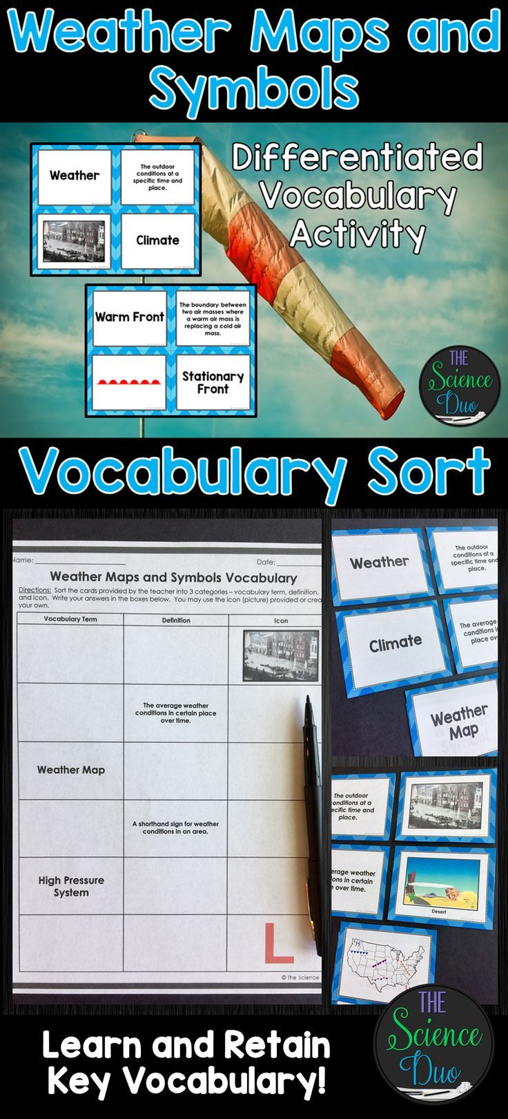 Help Your Students Grasp And Retain Key Weather Vocabulary With This
