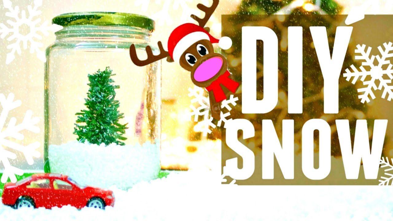 DIY Fake Snow How to Make Artificial Snow for Christmas