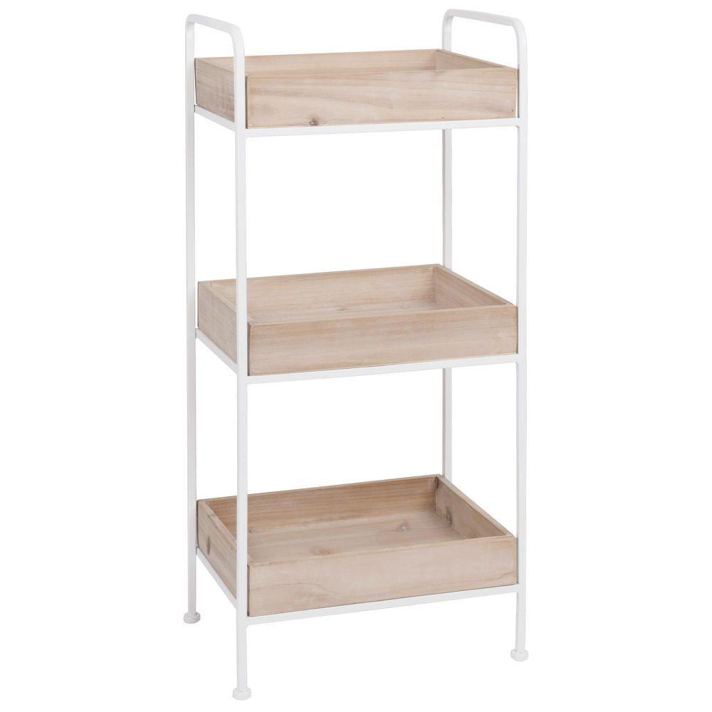 joe petit meuble de rangement en m tal noir et sapin 80. Black Bedroom Furniture Sets. Home Design Ideas