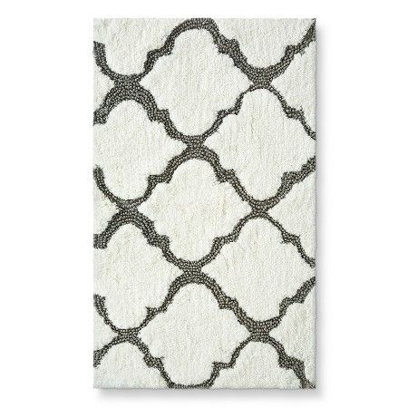 farmhouse bath threshold™ medallion bath rug - gray (20x34