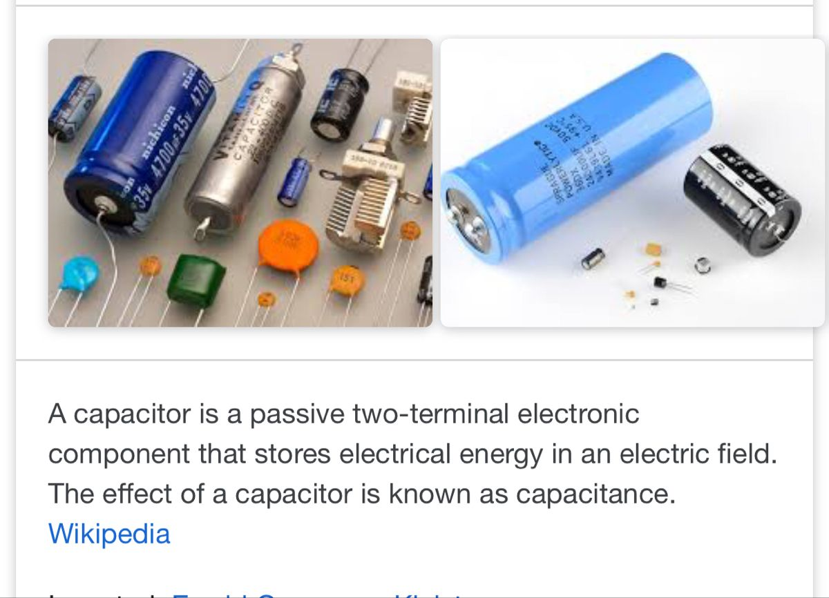 Capacitor Definition Electronics Components Electrical Energy Usb Flash Drive