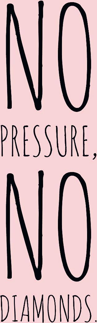 Motivation Monday - no pressure no diamonds