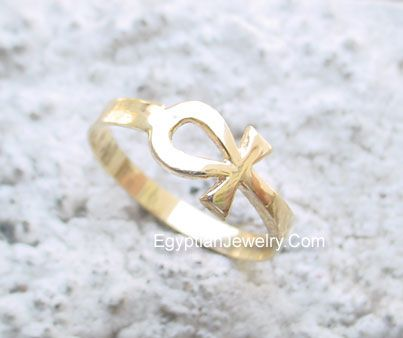 ankh jewelry Gold Ankh Ring Egyptian Jewelry Pinterest