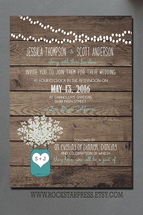 This wedding Invitation design is a perfect way to include all your customized information and the font text color can be customized to match your wedding colors.a  The invitations is 5x7 and the RSVP postcard is 4x5. - affordable printing package includes envelopes and shipping for all US orders only (international orders, covo me for additional shipping cost before purchase)  Have more information to share with your guest? I have you covered! Add this link to select a matching Insert card…
