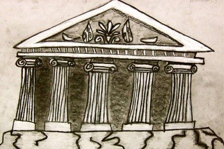 Greek Architecture Drawing greek architecture | buildings & architecture: art projects for