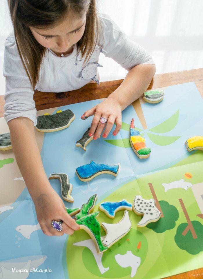 Galletas puzzle para pintar con niños   Galleta, Pintar y Entretenido