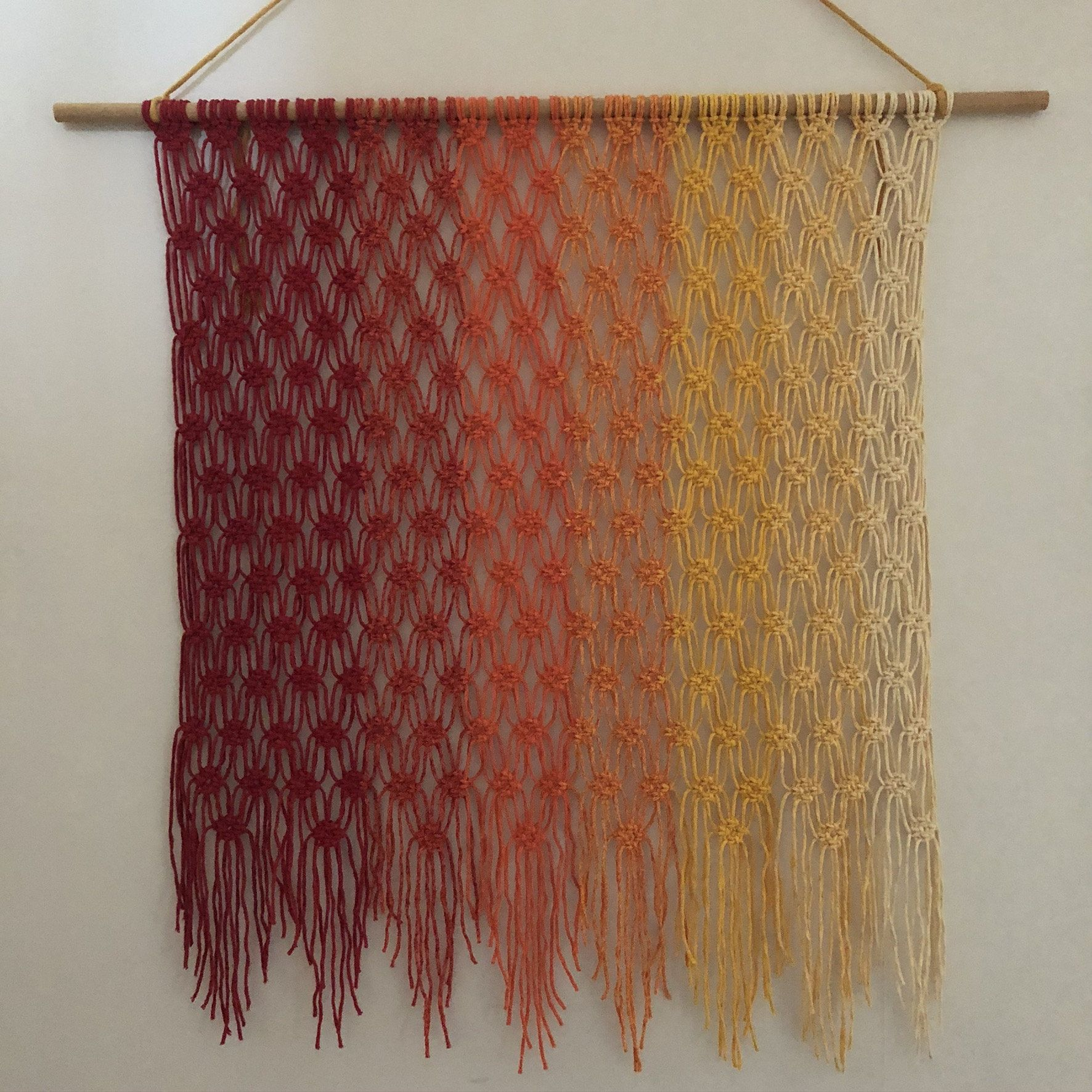 Large Colorful Macrame Wall Hanging Tapestry