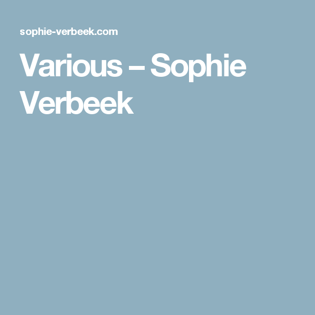 Various – Sophie Verbeek