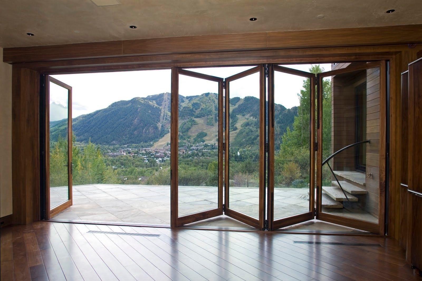 Large Sliding Glass Doors Exterior Doors With Glass Folding