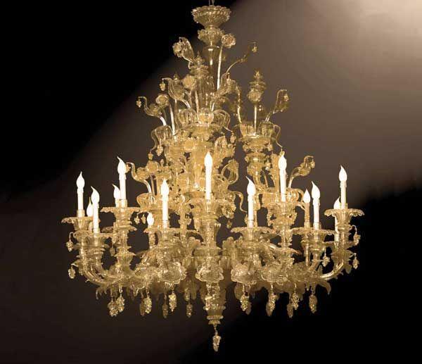 Lampadario #rezzonico #vetro Lampadario rezzonico in vetro oro e ...