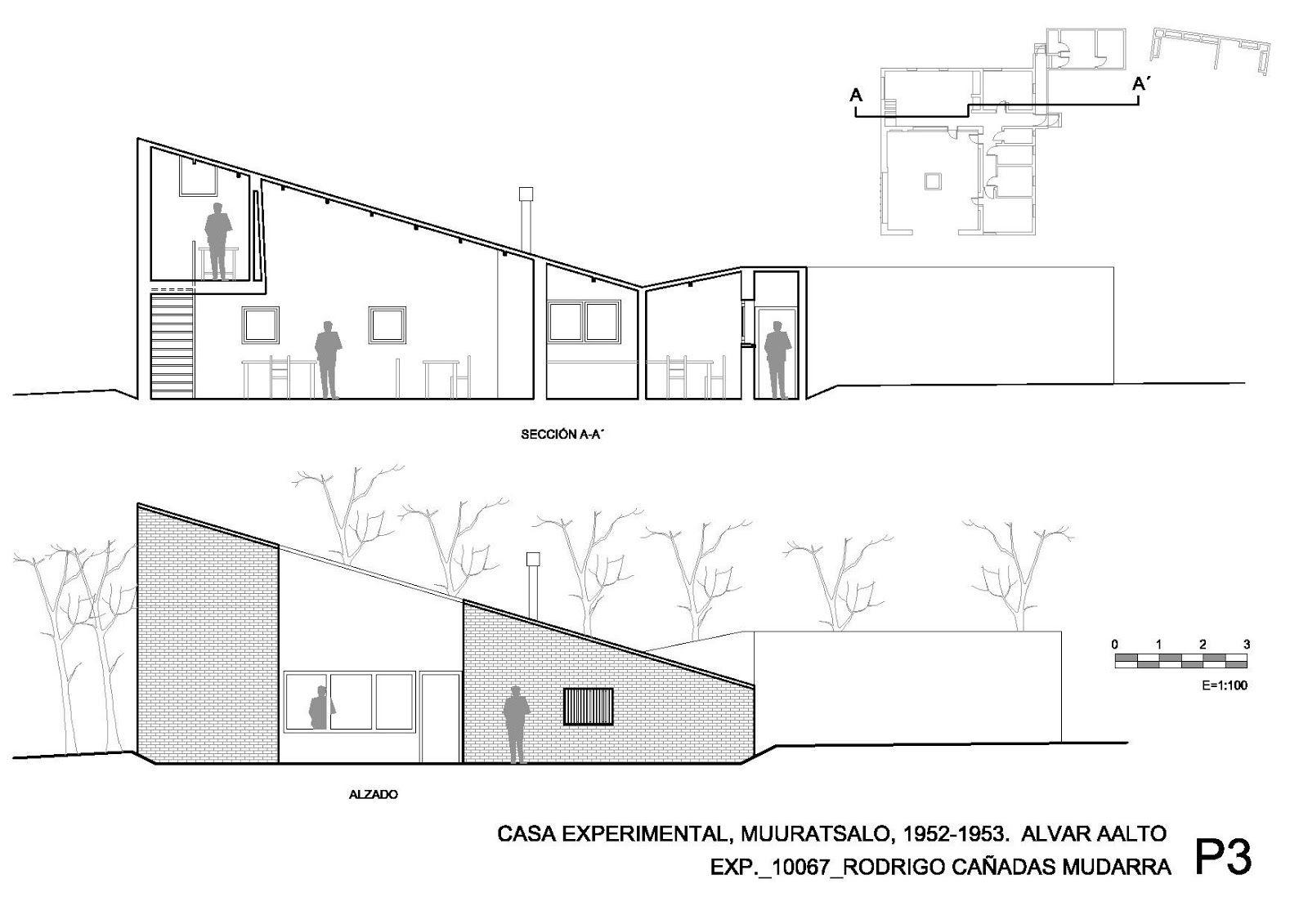 Alvar Aalto Experimental House Plans Interior