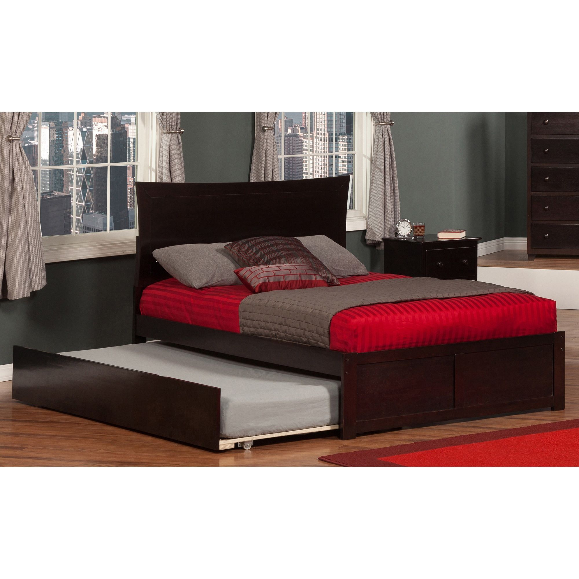 Metro Full Platform Bed with Flat Panel Foot Board and