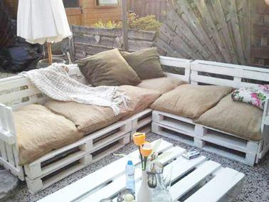 Aménager son jardin avec des meubles en palettes bois | Tyre furniture