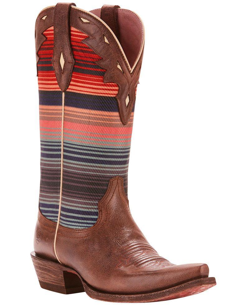 Ariat womens circuit serape cowgirl boots snip toe