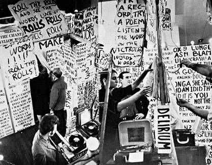 Allan Kaprow Words Using Random Text Gathered From Publications