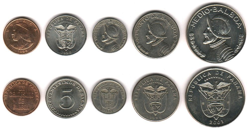Panamanian Balboa Money Coins Panama