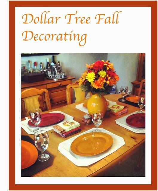 Dollar Tree Fall Decorating Polka Dots & Pampers