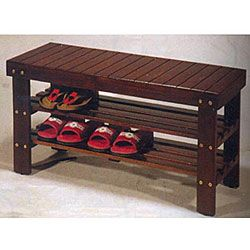 Wooden Shoe Bench, Need Something Like This To Put By The Garage Door. Im