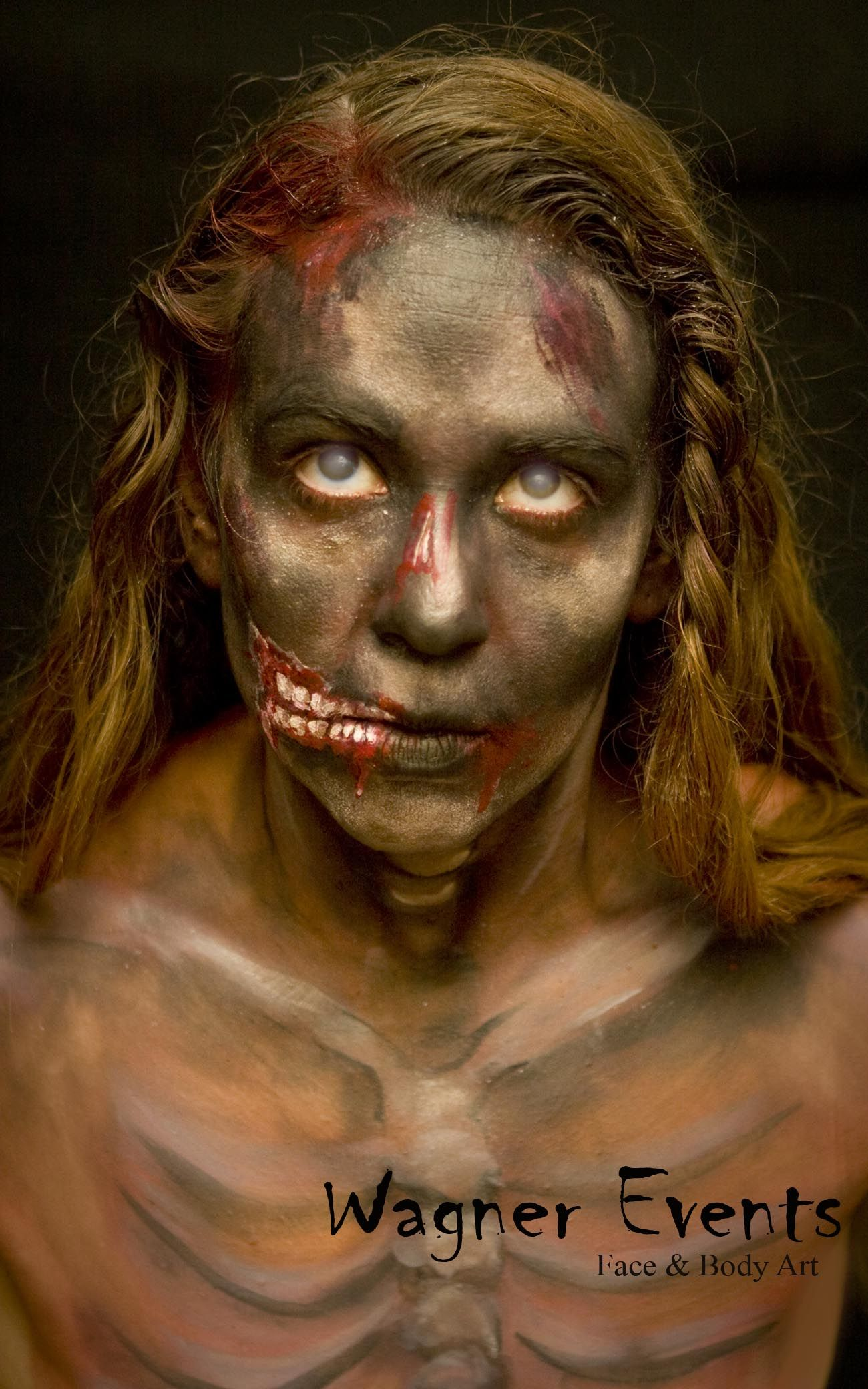zombie face paint, for other entertaining events. Zombie