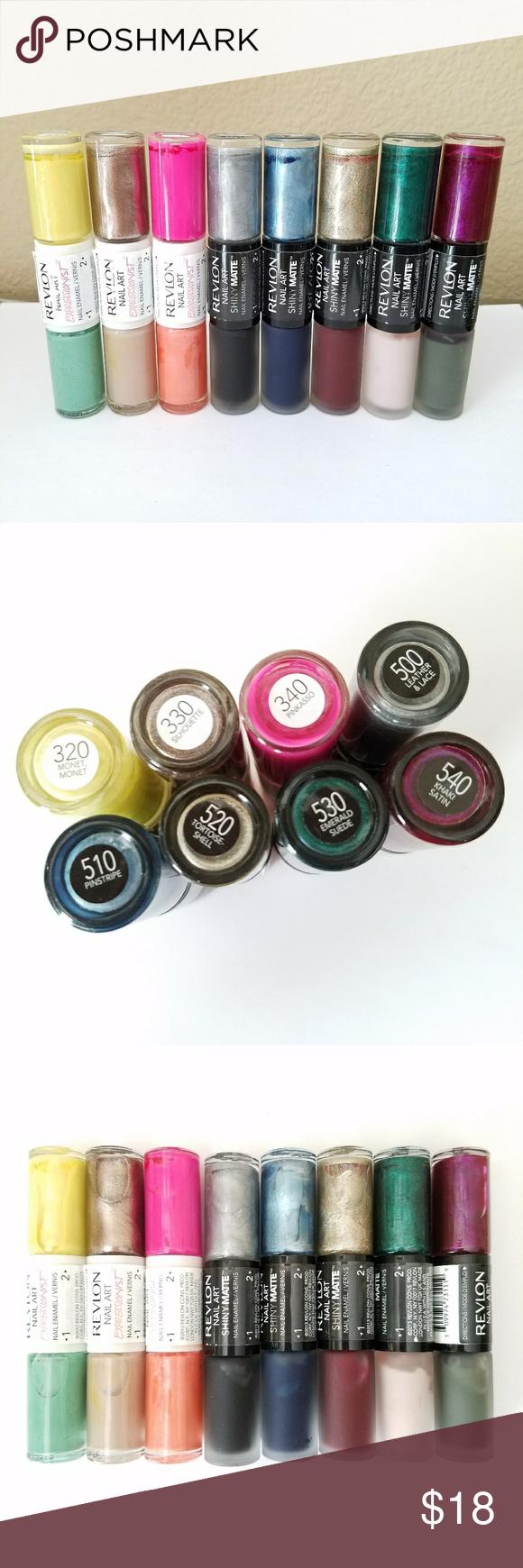 8x Revlon Nail Art Nail Polish Set of 8 Revlon Nail Art ...