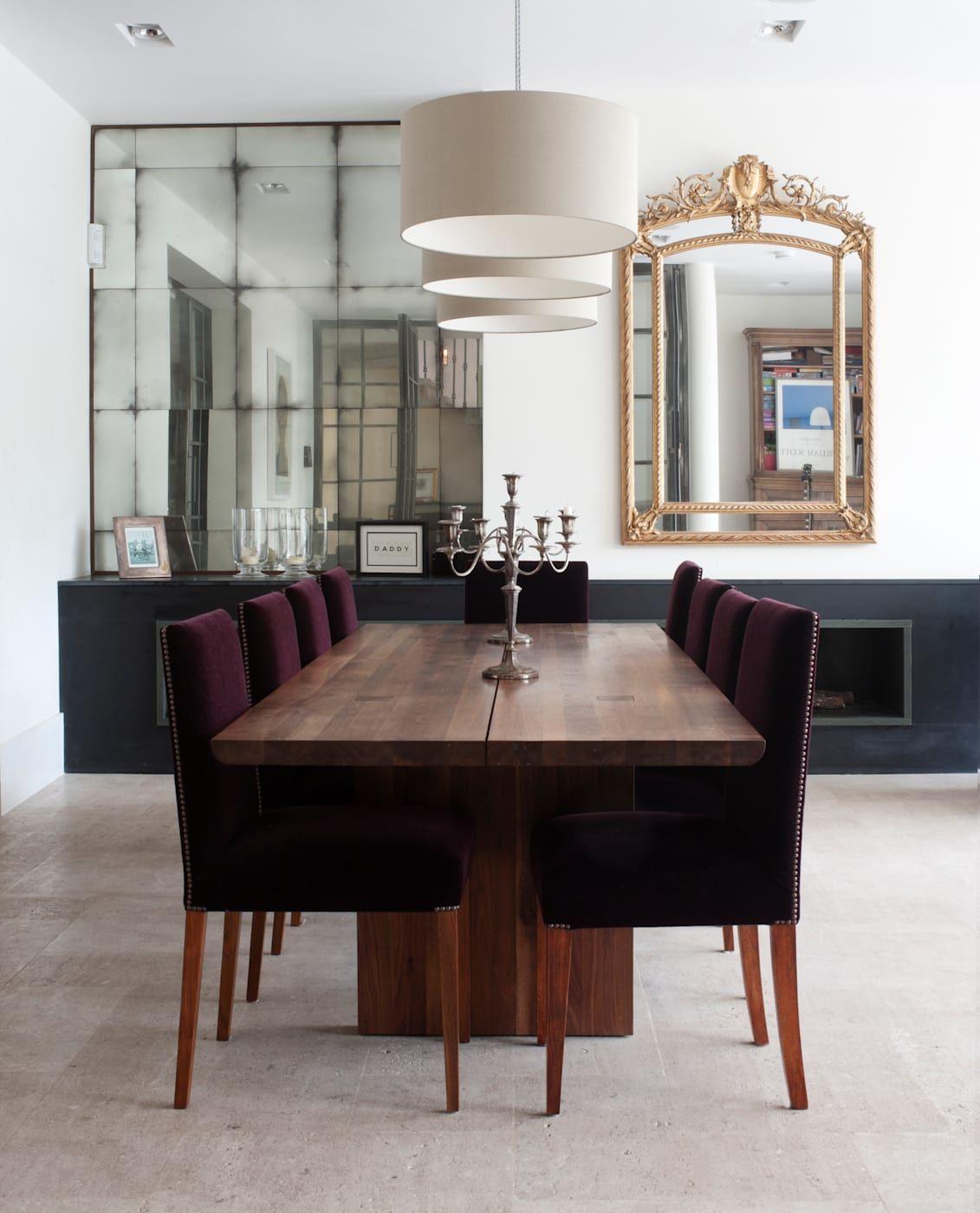 Dining Area Alcove Mirrors Minimalistic Dining Room By Rupert Bevan Ltd Minimalist Dining Room Mirror Dining Room Antique Mirror Glass