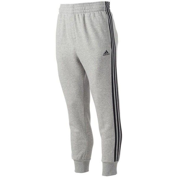 0806ea400 Big & Tall Adidas Slim 3S Sweatpants ($23) ❤ liked on Polyvore featuring  men's fashion, men's clothing, men's activewear, men's activewear pants, ...