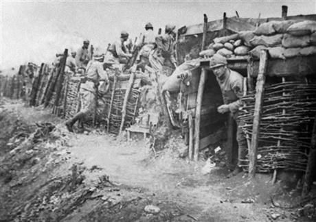 In this undated file photo italian soldiers stand near a trench in this undated file photo italian soldiers stand near a trench at the battle of sciox Gallery